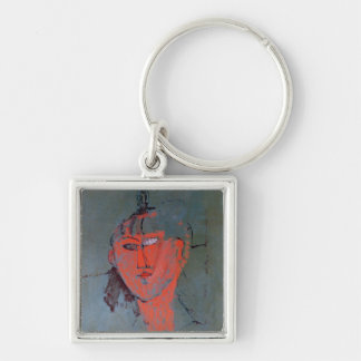 The Red Head, c.1915 Silver-Colored Square Keychain