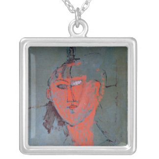 The Red Head, c.1915 Silver Plated Necklace
