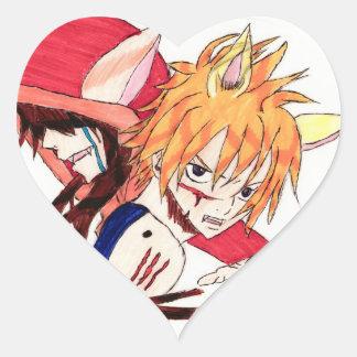 the red hood version manga heart sticker