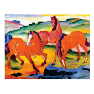 The Red Horses by Franz Marc Postcard
