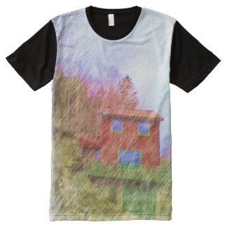 The red house All-Over print t-shirt