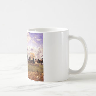 The Red House by Camille Pissarro Classic White Coffee Mug