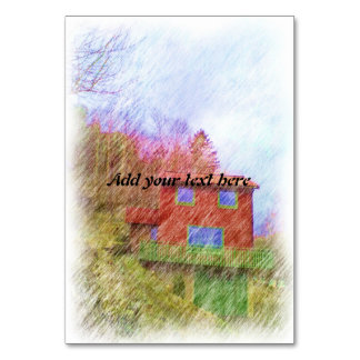 The red house card