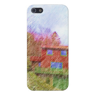 The red house cover for iPhone 5/5S