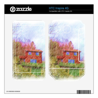 The red house HTC inspire 4G decals