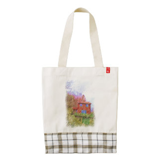 The red house zazzle HEART tote bag