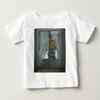 The Red Kerchief, Portrait of Mrs. Monet (1873) Baby T-Shirt