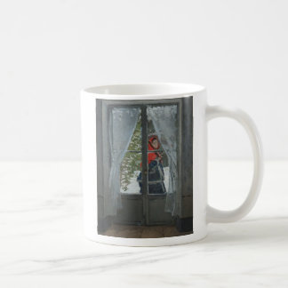 The Red Kerchief, Portrait of Mrs. Monet (1873) Classic White Coffee Mug