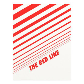 The red line. postcard