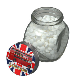 The Red London Bus Jelly Belly Candy Jars