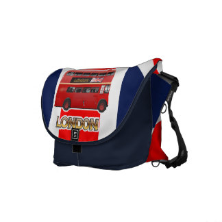 The Red London Double Decker Bus Courier Bag