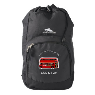 The Red London Double Decker Bus High Sierra Backpack