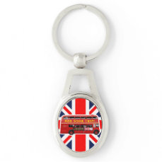 The Red London Double Decker Bus Keychain