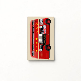 The Red London Double Decker Bus Light Switch Cover