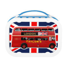 The Red London Double Decker Bus Lunch Box