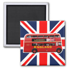 The Red London Double Decker Bus Magnet