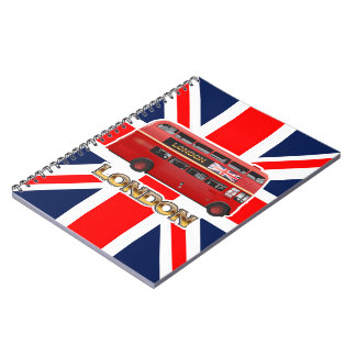 The Red London Double Decker Bus Notebook