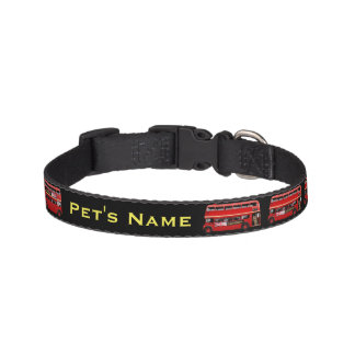 The Red London Double Decker Bus Pet Collar