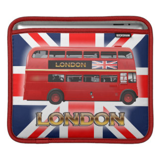 The Red London Double Decker Bus Sleeve For iPads