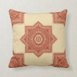 The Red Moroccan Pattern Throw Pillows