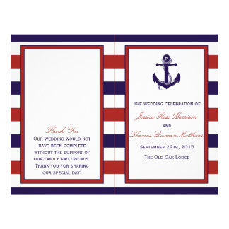 The Red & Navy Nautical Anchor Wedding Collection Flyer