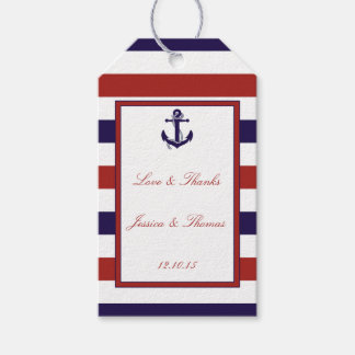 Nautical Wedding Gift Tags : The Red & Navy Nautical Anchor Wedding Collection Gift Tags