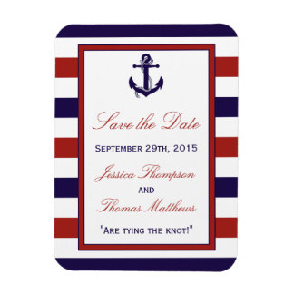 The Red & Navy Nautical Anchor Wedding Collection Magnet