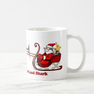 the Red Nose Land Shark Coffee Mug