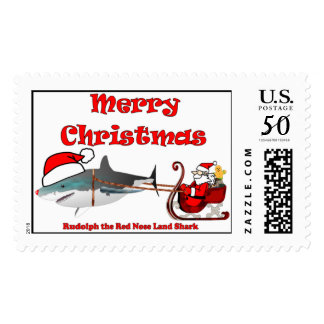 the Red Nose Land Shark Postage