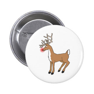 the red nose Reindeer Button