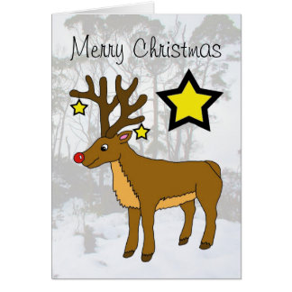 the Red Nose Reindeer Greeting Cards