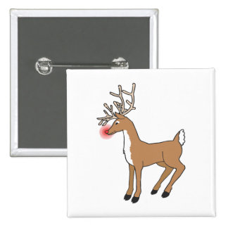 the red nose Reindeer Pinback Button