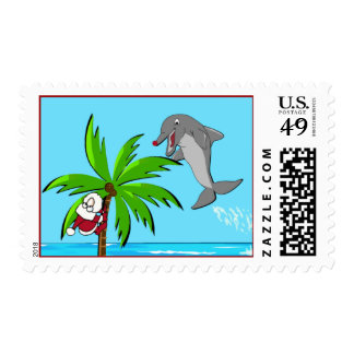 the Red Nosed Dolphin Postage Stamps