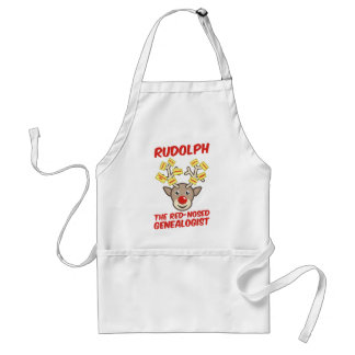 The Red-Nosed Genealogist Adult Apron