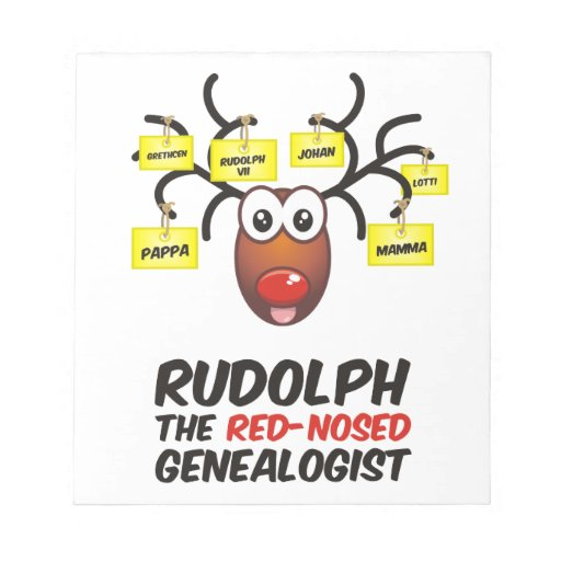 The Red-Nosed Genealogist Note Pads