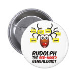 The Red-Nosed Genealogist Pin