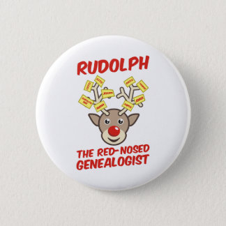 The Red-Nosed Genealogist Pinback Button