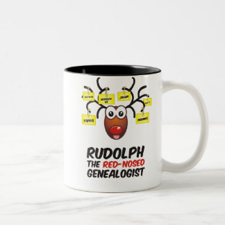 The Red-Nosed Genealogist Two-Tone Coffee Mug