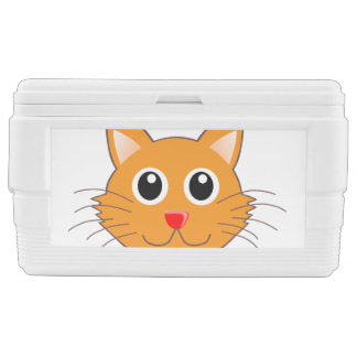The red-nosed orange Cat Chest Cooler
