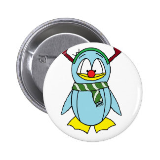 the Red Nosed Penguin 2 Inch Round Button