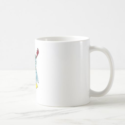 the Red Nosed Penguin Classic White Coffee Mug