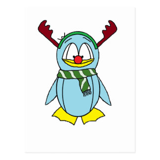the Red Nosed Penguin Postcard