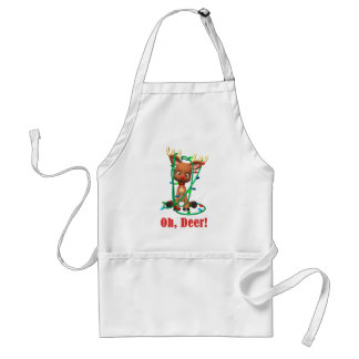 the Red Nosed Reindeer Gets Tangled Up Adult Apron