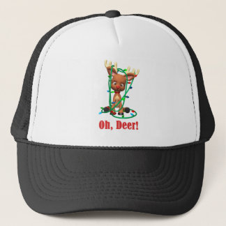 the Red Nosed Reindeer Gets Tangled Up Trucker Hat