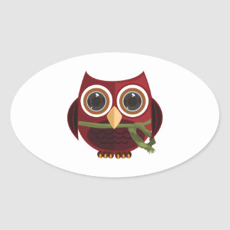 The Red Owl Sticker