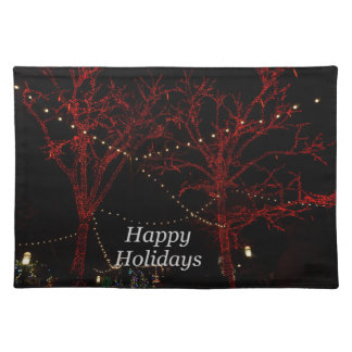 The Red Pair Greetings Cloth Placemat