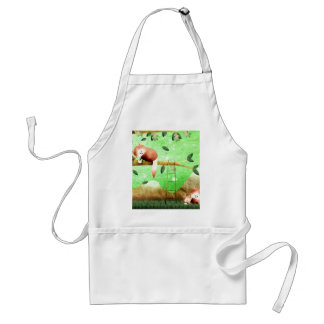 The red panda came prepared ... adult apron