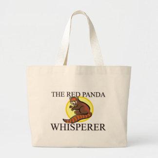 The Red Panda Whisperer Large Tote Bag