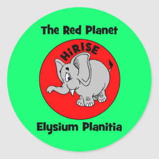 The Red Planet Round Stickers