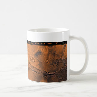 The Red Planet: Valles Marineris Classic White Coffee Mug